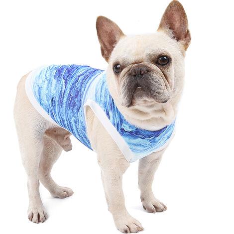 Perro transpirable para mascotas Camisa del perro de refrigeracion del chaleco de verano caliente absorbe el agua se evaporan rapidamente, XS