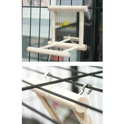 Perroquet Cage Toy perches Swing Hanging Toy Perroquet Cloche Jouet avec Miroir Cage À Oiseaux Stand