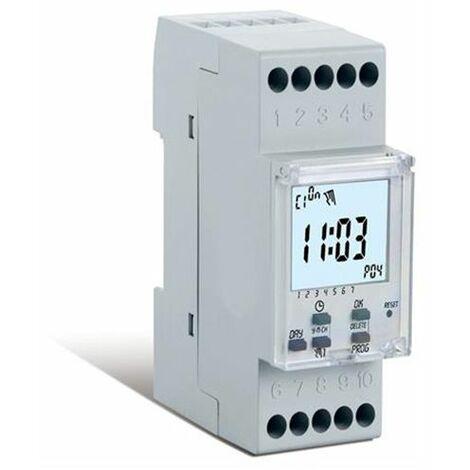 Perry - Horloge numérique hebdomadaire avec heure d'été 1 canal - 2 DIN