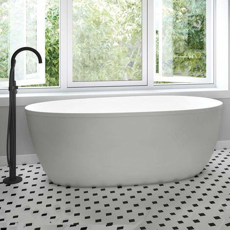 Persea vasca da bagno freestanding 150 x 75 x 60 acrilico colore bianco lucido