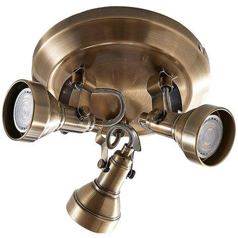 Perseas 3-bulb GU10 LED ceiling spotlight