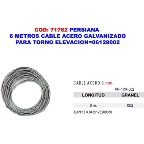 PERSIANA 6 METROS CABLE ACERO GALV.PARA TORNO ELEVACION=06129002