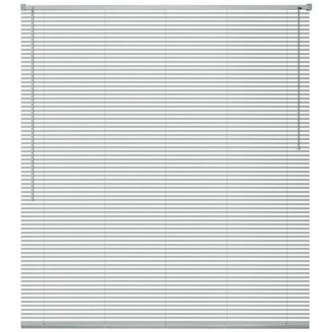 Persiana aluminio 100x130 cm plateada