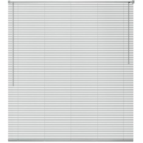 Persiana aluminio 100x160 cm plateada