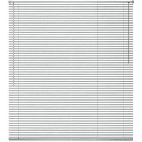 Persiana aluminio 140x160 cm plateada