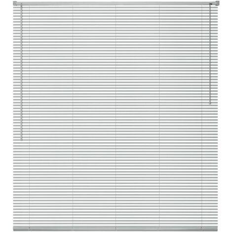 Persiana aluminio 80x160 cm plateada