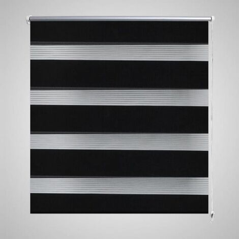 Persiana Cebra 120 x 175cm Negro