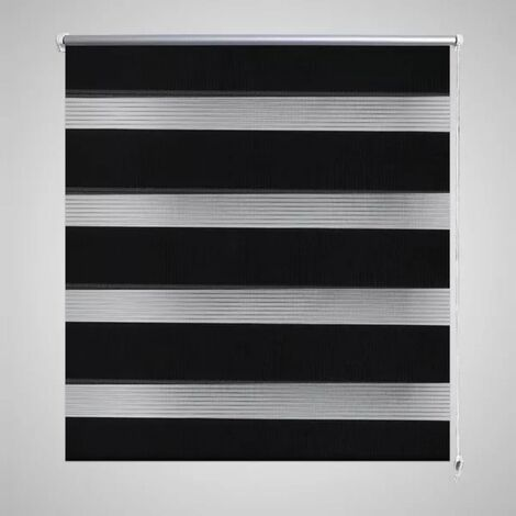 Persiana Cebra 80 x 175cm Negro