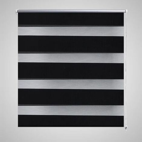Persiana Cebra 80 x 175cm Negro - Negro