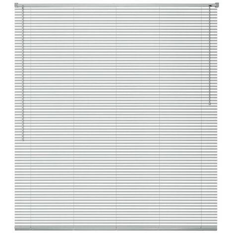 Persiana de aluminio 100x220 cm plateada