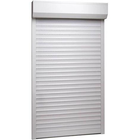 Persiana enrollable aluminio blanca 110x220 cm - Blanco