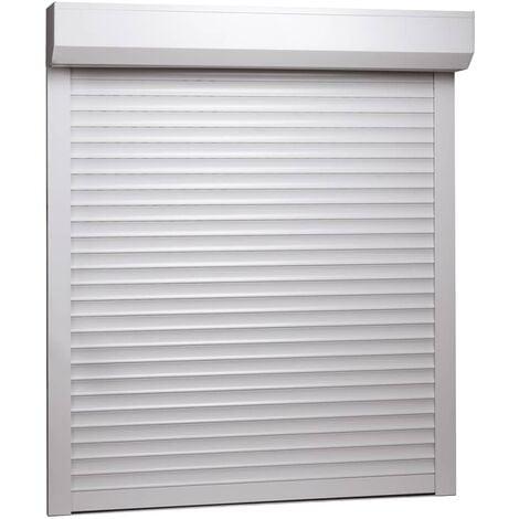 Persiana enrollable aluminio blanca 80x100 cm - Blanco