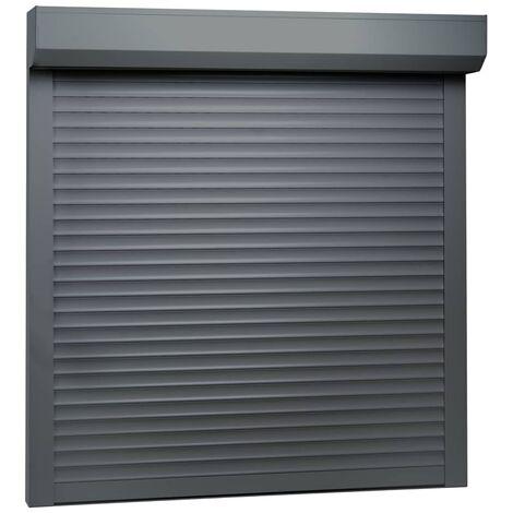 Persiana enrollable aluminio gris antracita 100x100 cm