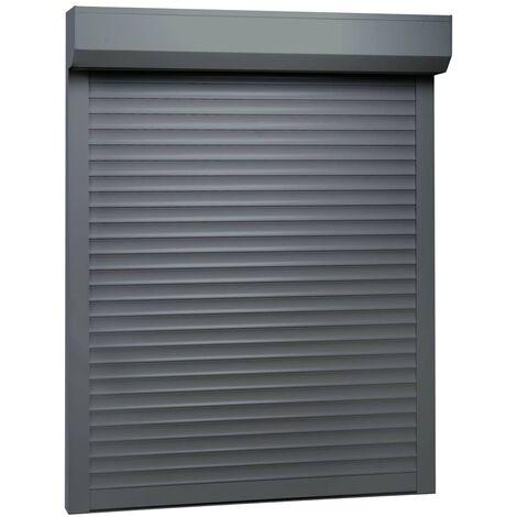 Persiana enrollable aluminio gris antracita 100x130 cm - Gris
