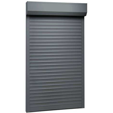 Persiana enrollable aluminio gris antracita 100x210 cm