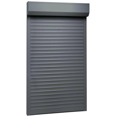 Persiana enrollable aluminio gris antracita 110x220 cm