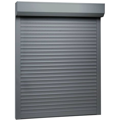 Persiana enrollable aluminio gris antracita 70x100 cm - Gris