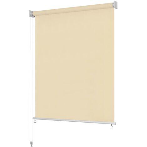Persiana enrollable de exterior 400x140 cm color crema