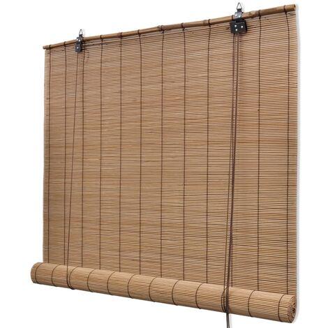 Persianas Enrollables de Bambú Marrón 100x160 cm