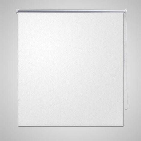 Persiana estor opaca enrollable blanco 100x175 cm - Blanco