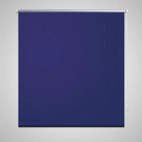 Persiana estor opaco enrollable azul marino 160x175 cm