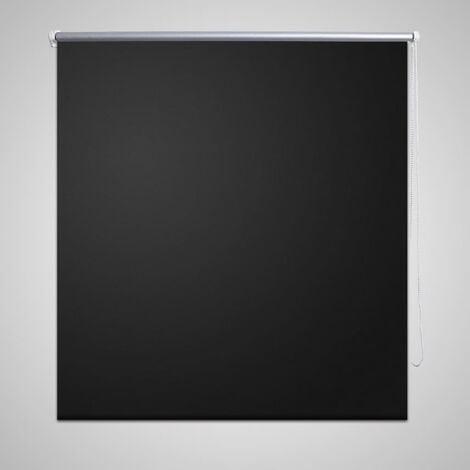 Persiana estor opaco enrollable negro 160x230 cm - Negro