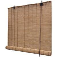Persianas enrollables de bambú marrón 120x220 cm