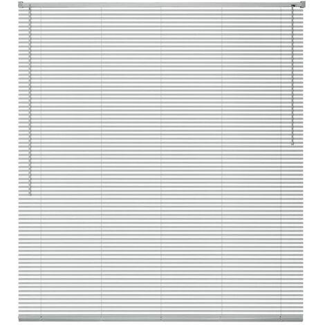 Persianas para ventana aluminio 140x130 cm plateada