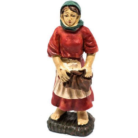 77d5d1ebafbb Personaggio del presepe di Natale donna con vestito rosso 9cm ...