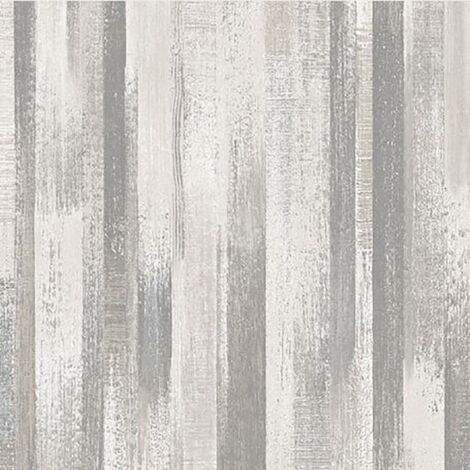 Perspectives Industrial Wood Effect Wallpaper Grandeco Grey Textured Vinyl
