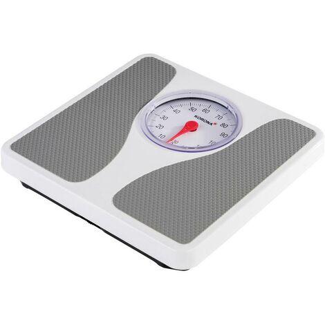 Pèse-personne analogique Korona Louis 76660 Plage de pesée (max.): 130 kg blanc, gris 1 pc(s) X455861