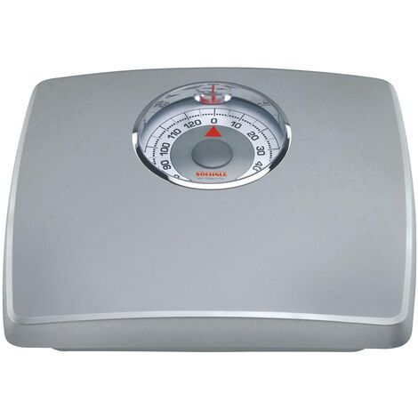 Pèse-personne analogique Soehnle PWA LOUPE silber 61351 Plage de pesée (max.): 130 kg 1 pc(s) Q140802