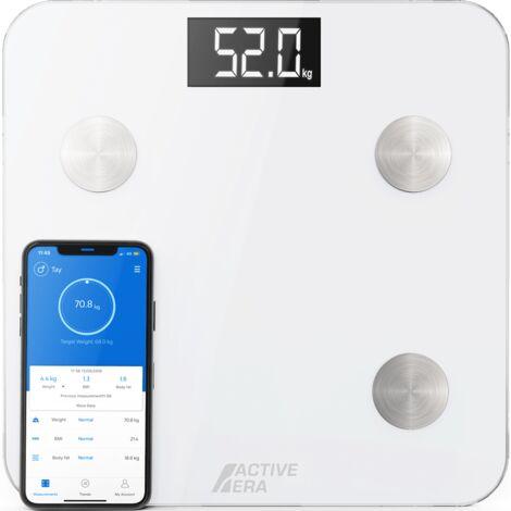 Pèse-Personne Connecté avec Application mobile - Impédancemètre - Blanc Active Era