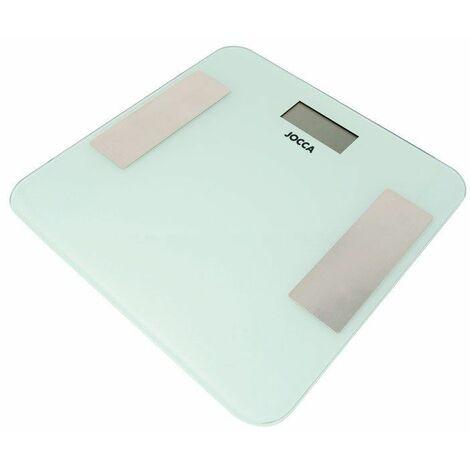 Pèse-personne jocca 7164/ analyse corporelle/ bluetooth/ jusqu'à 180kg/ blanc.
