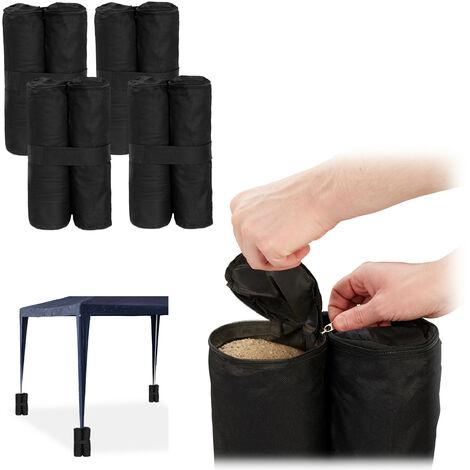 Peso para carpa, Pesas para patas, Rellenar con arena, 10 kg por pata, 4 Uds., Negro