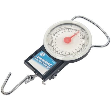 Peson à cadran avec mètre à ruban - 22 kg