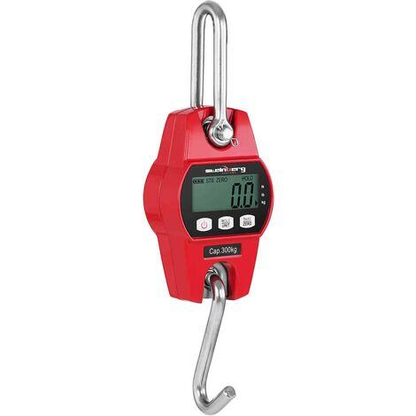 Peson Dynamomètre Lcd Balance Industrielle Pèse Poids 300Kg Précision 100G Rouge