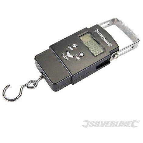 Peson électronique de poche 50Kg - Silverline - 243857