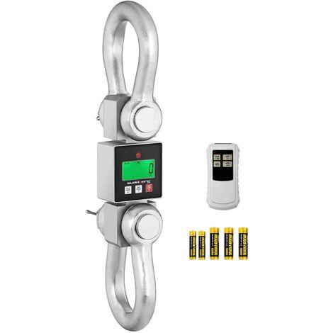 Peson Électronique Digital Balance Crochet Industrielle Écran LCD 10t ±0,5/5kg