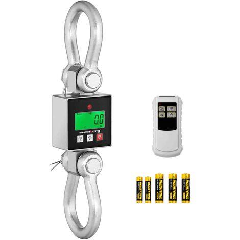 Peson Électronique Digital Balance Crochet Industrielle Télécommande 3t ±0,5/1kg