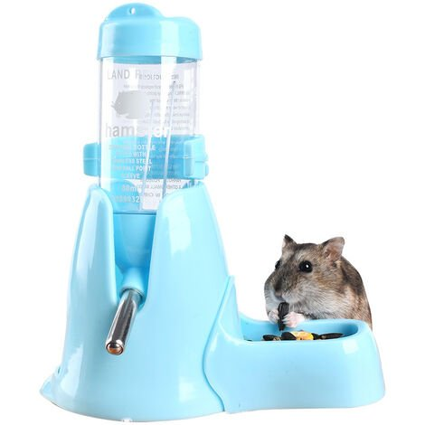 Pet Automatic Bottle Water Dispenser for Hamsters Rats Guinea Ferrets Rabbits Small Animals (80ml, Blue)