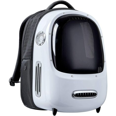 Pet Backpack Travel Backpack For Cat Integrated Fan Lighting Backpack for Puppy Backpack Ventilated Pet Backpack Comfortable Comfortable Outdoor Backpack White