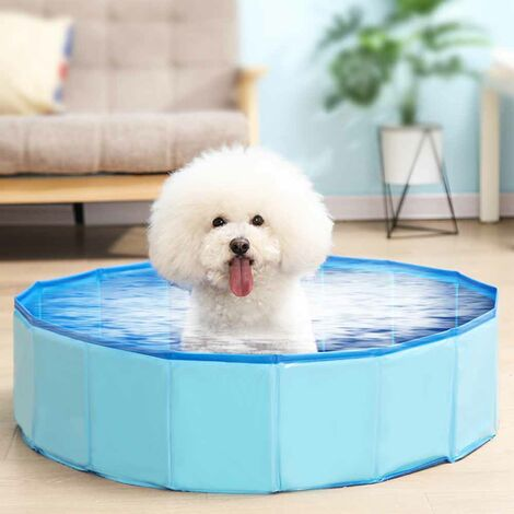 Pet Bath Pool Pet Bathing Tub Pool for Dogs Cats blue-30X160cm