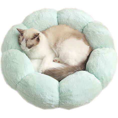 "main image of ""Pet Bed Animal Mattress Chenil Flowers Cat Winter Warm Plush Nest Light Green Small S"""