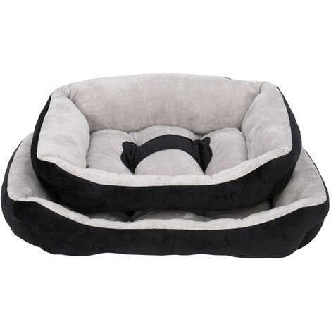 Pet Bed Dog Mat Cat Pad Soft Plush Gray Black for Cats & Small Dogs