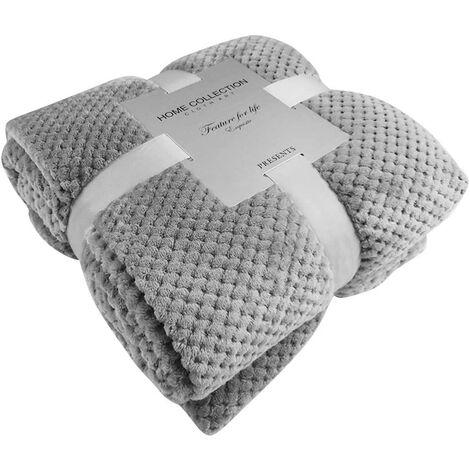 Pet Blanket Dog / Cat Blanket Fleece Soft and Cute Fabric PS051 (70x100cm, Gray)