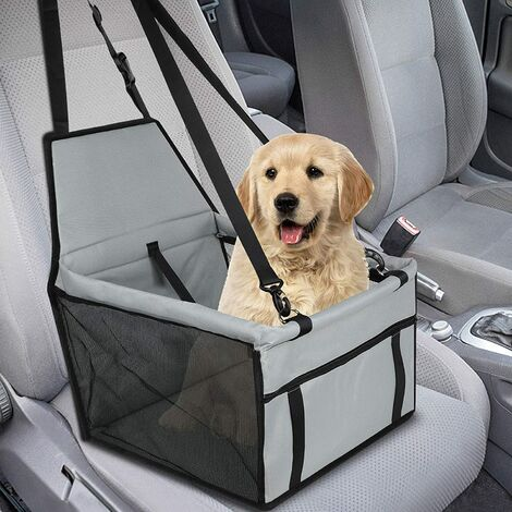 Pet Booster Seat for Small Dogs, Waterproof Breathable Booster Seat Cover for Dogs, Protective Pet Carrier Bag Gray