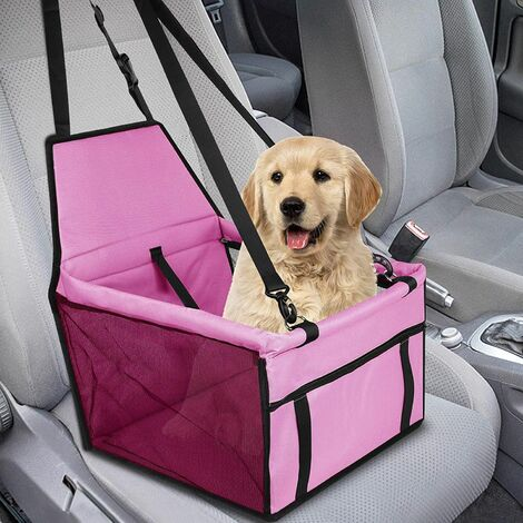 Pet Booster Seat for Small Dogs, Waterproof Breathable Booster Seat Cover for Dogs, Protective Pet Carrier Bag Pink