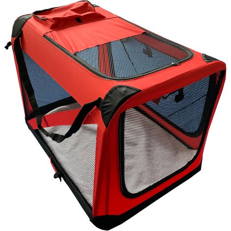 Pet Carrier Transport Travel Bag with warm carpet and soft side panels ideal for dogs cats and puppies.