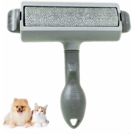 "main image of ""Pet Cat Dog Hair Brush, Hair Remover Brush, Reusable Magic Hair Brush, Pet Hair Roller, Epilator (Clothes / Sofa / Bed / Carpet / Coat) - Gray"""